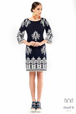 Φόρεμα σάκος μπορντούρα πικέ fashion dress spring summer 2015
