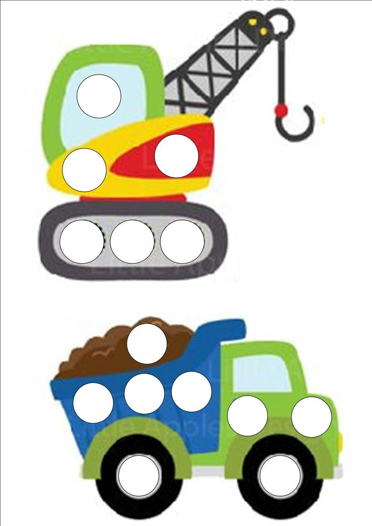 véhicules à décorer avec des gommettes chez nounou