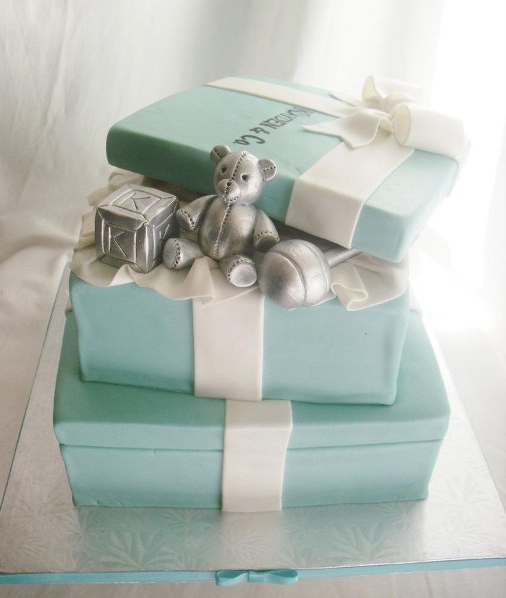 tiffany company baby shower invites | ... daily: Two Tier Tiffany & Co. Themed Baby Shower Cake and Cupcakes