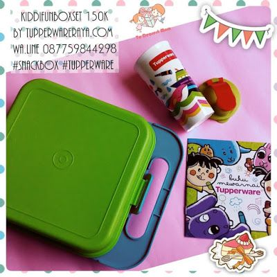 Promo Tupperware Kiddi FunBox Set