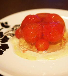 【涼やか】ミニトマトのだし煮・ゼリー寄せ
