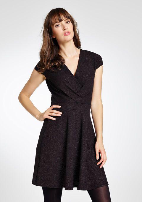 Cachecoeur jurk met pailletten details - BRONZE - 08004144_1148