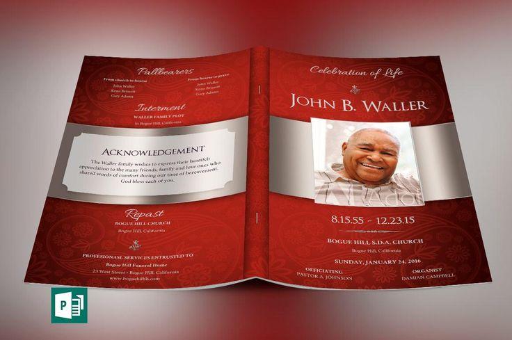 Funeral Program Background] Dignity Funeral Program Photoshop ...