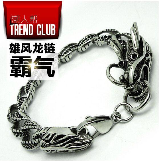 Aliexpress.com: Comprar Jhnby alta calidad 316l pulsera de acero titanium punky de la vendimia de hiphop hombre debe joyería brazaletes de la pulsera de cadena del dragón chino de men jewelry fiable proveedores en JHNBY (Johan's Beads) Store