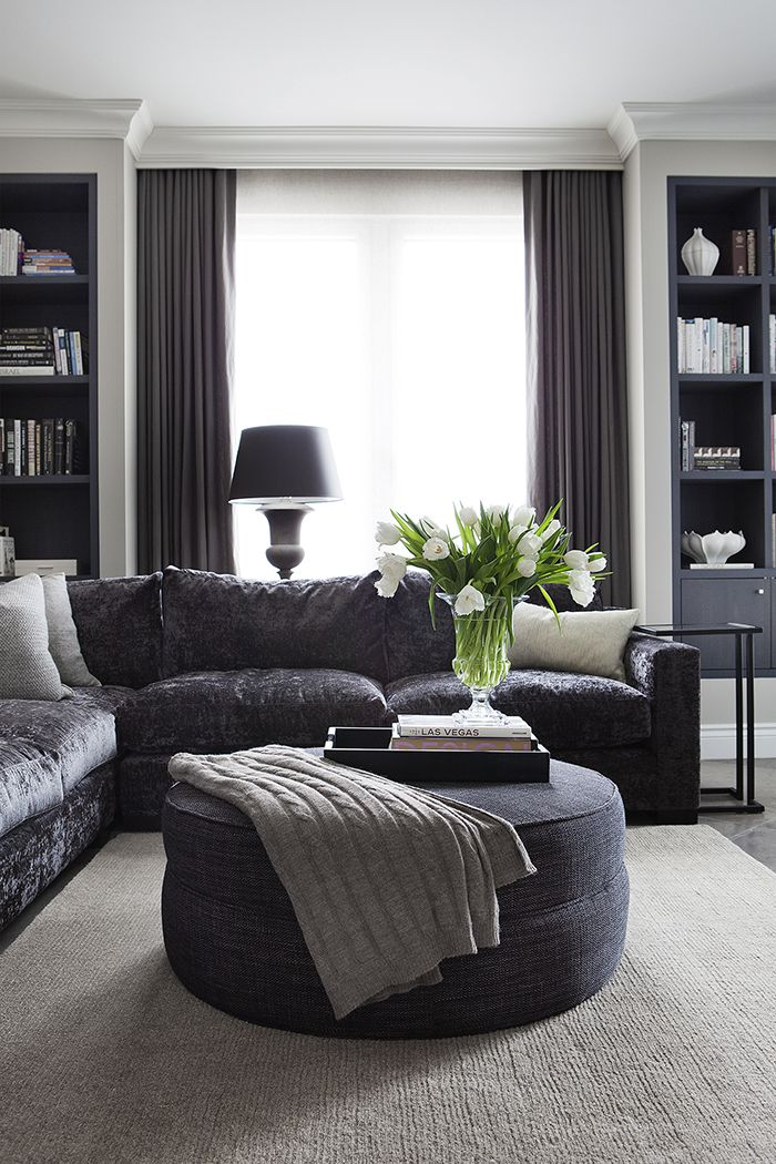 Transitional Living Room By Julie Charbonneau