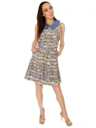 """Women's """"Fungus"""" Dress by Folter Clothing (Blue)"""