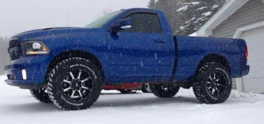 lifted ram 1500 regular cab with 25 leveling kit and 35 tires lifted trucks pinterest - 2014 Dodge Ram Single Cab Lifted