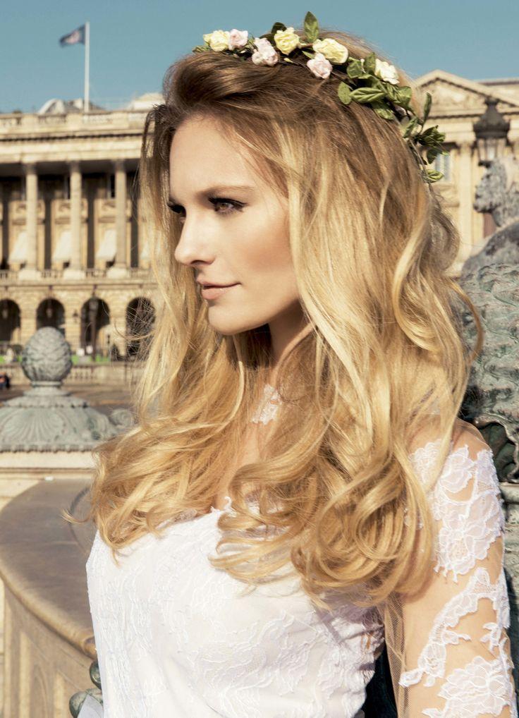 Noiva em Paris por Jacques Dequeker para Campanha Jacques Janine 55 anos.    maquiagem Chloé Gaya * cabelos Gill Almeida    #Loiro #Noivas
