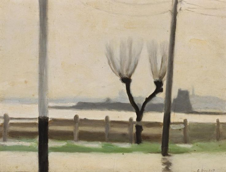 CLARICE BECKETT (1887 – 1935) Australia -  WET EVENING, 1922 oil on board