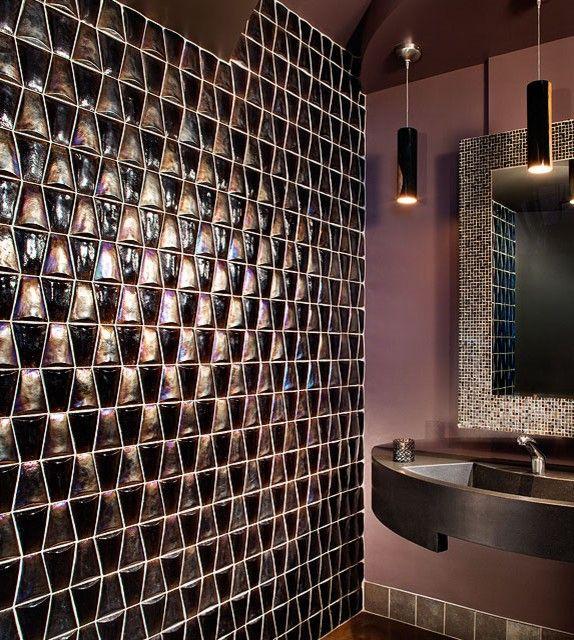 Tip pro luxusní koupelny: skleněná dlažba nebo mozaika