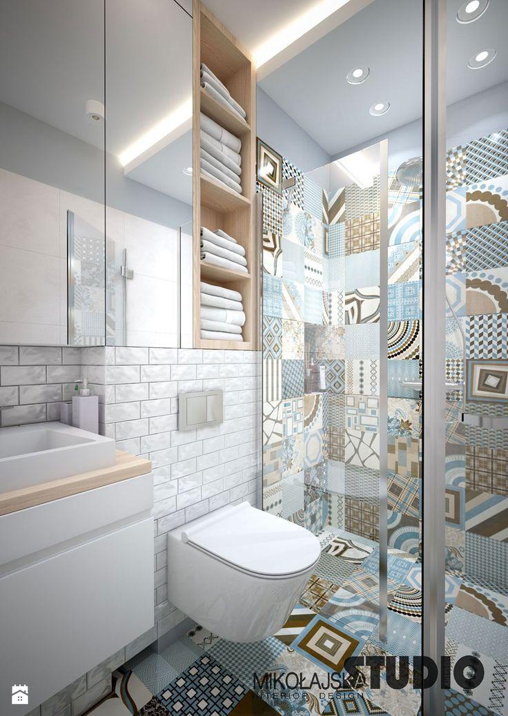 pastelowa łazienka - zdjęcie od MIKOŁAJSKAstudio