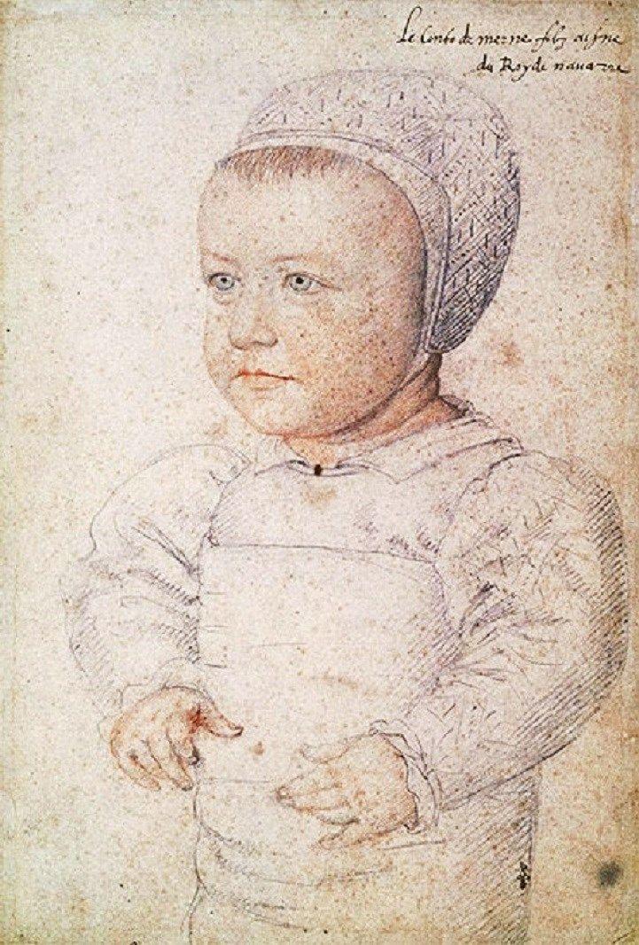 1555 Studio of  Jean Clouet (1475–1540). Louis Charles de Bourbon (1555-57)  Comte de Marle