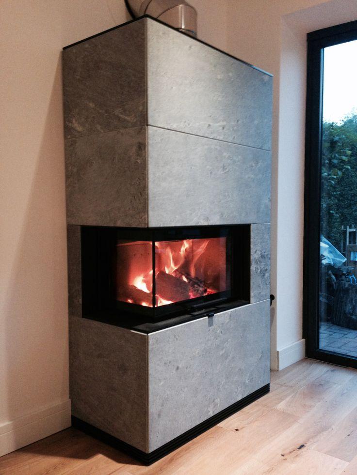 A Contura i41T soapstone woodburning stove by Hagley Stoves