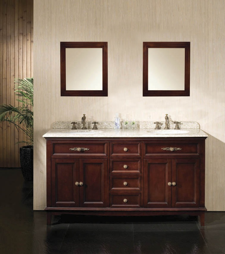 60 double sink vanity with granite top. The Dustin 60  double vanity features hardwood furniture with a Tobacco finish granite countertop 9 best Double Bathroom Vanities images on Pinterest Bath