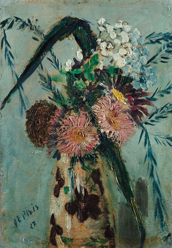 Filippo De Pisis - Flowers in a Vase 1927