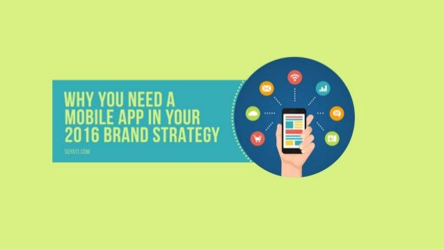 Read on for a detailed reasoning of why we think an app should definitely be a part of your brand strategy in 2016.