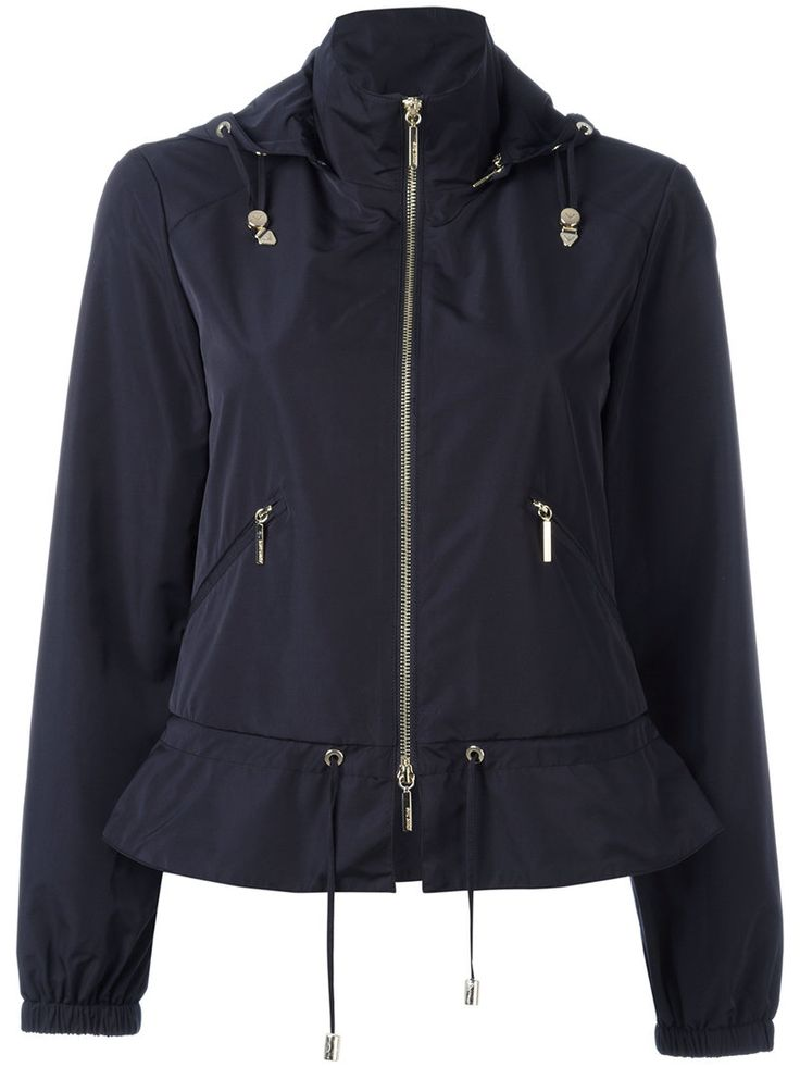 ¡Cómpralo ya!. Armani Jeans - Zip Up Hooded Biker Jacket - Women - Polyester - 40. Black zip up hooded biker jacket from Armani Jeans. Size: 40. Color: Blue. Gender: Female. Material: Polyester. , chaquetadecuero, polipiel, biker, ante, antelina, chupa, decuero, leather, suede, suedette, fauxleather, chaquetadecuero, lederjacke, chaquetadecuero, vesteencuir, giaccaincuio, piel. Chaqueta de cuero  de mujer color azul claro de ARMANI JEANS.