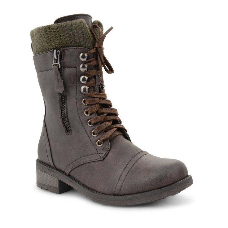 Elizabeth Dolcis Military Combat Ankle Boots