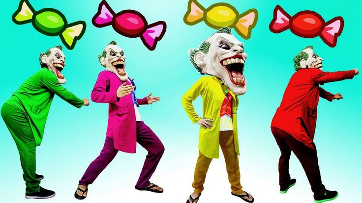 Learning Color With Bad Guy Joker And Sweet Candy- Funny Video Joker - Elsa And Children