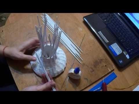 Ваза-птица. Плетние из бумажных трубочек | oblacco