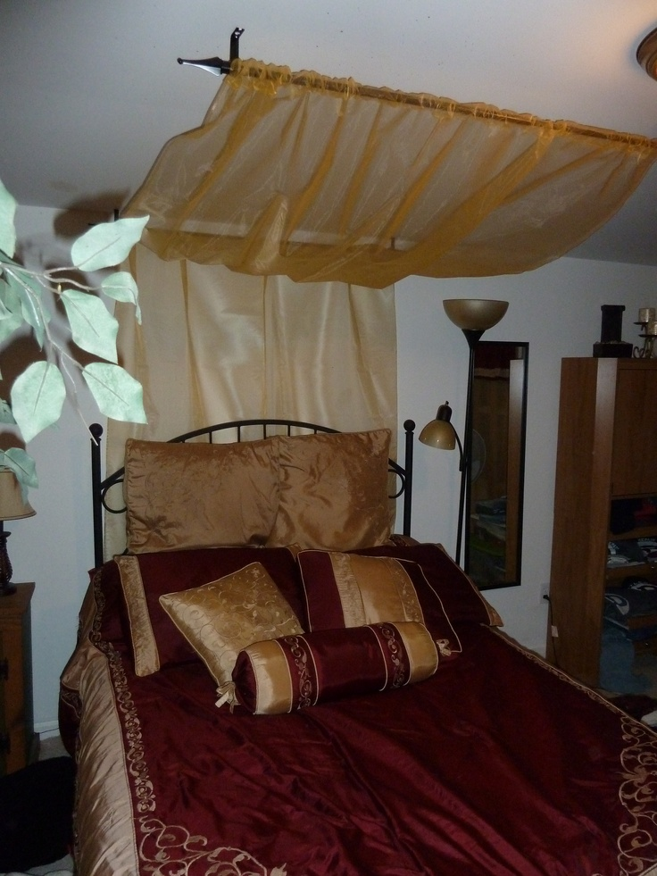 43 best images about bed canopy on pinterest canopy for Drape canopy over bed