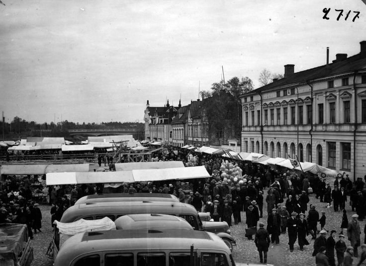 1937 Oulun syysmarkkinat.
