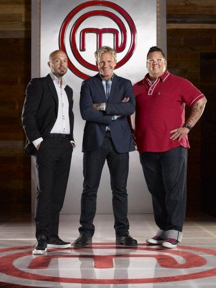 TV show MasterChef is a reality-competition hosted by three judges:  Joe Bastianich (restaurateur and wine maker), Graham Elliot (the youngest four-star chef in America), and  restaurateur-TV host Gordon Ramsay.
