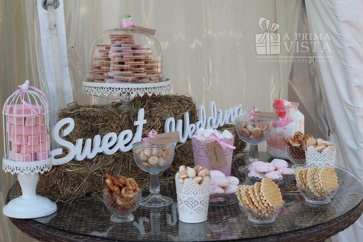 Rustic wedding.  Candy bar