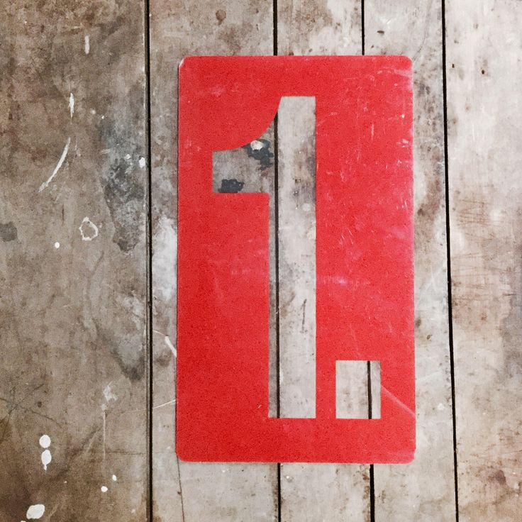no. 1 Marquis Number | Inverted Color | Red | Gallery Wall | Industrial Vintage by PiccadillyPrairie on Etsy