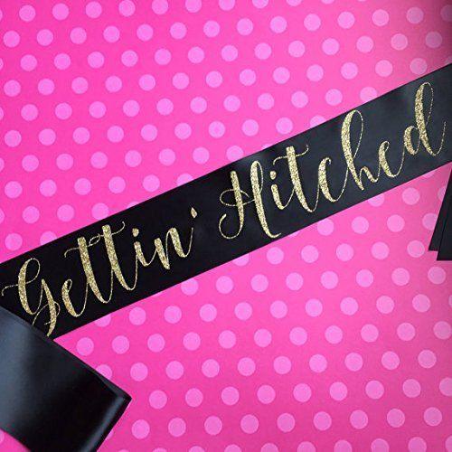 Amazon.com: Gettin' Hitched Western Bachelorette Party Sash: Handmade
