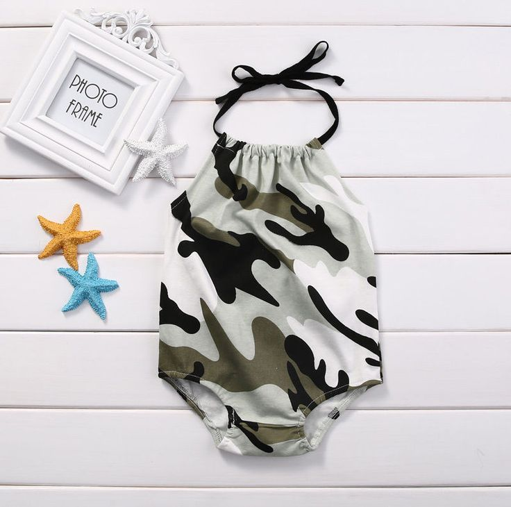 >> Click to Buy << 0-24M Newborn Baby Girls Clothes Infant Bebes Camouflage Gallus Bodysuit Jumpsuit Outfits Sunsuit  #Affiliate