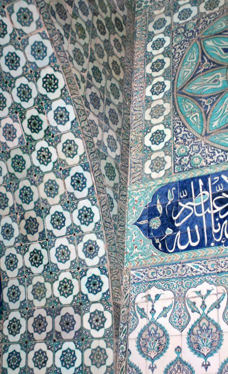 Tiles, Topkapi Palace, Istanbul, Turkey (these are Iznik tiles...my favorite!)