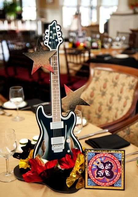 Guitar Centerpieces for Parties - guitarcenterpieces.com - custom made, DIY, and more