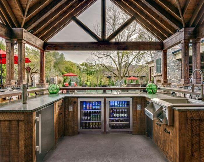Holz Für Außenküche : Beste ideen für außenküche