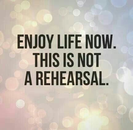 This is not a rehearsal and we don't get a do over so let's enjoy life now. There are so many wondrous things to see, to do and to be. Dystonia is just a fragment of who we are. Thinking of you all and wishing you a wonderful weekend!