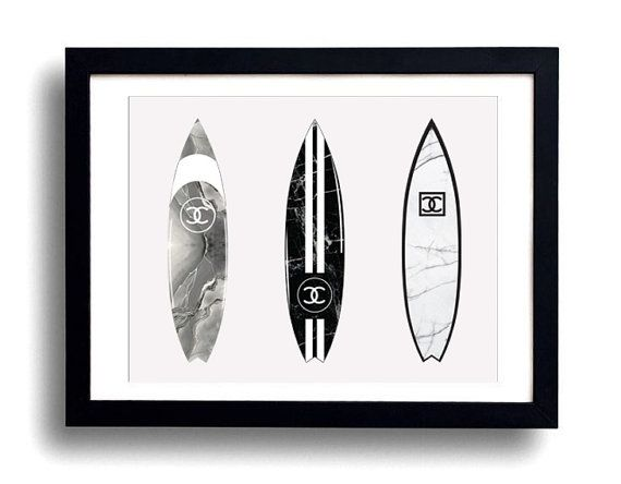 Chanel surfboard  Marble Mix Set by EssaDesigned on Etsy
