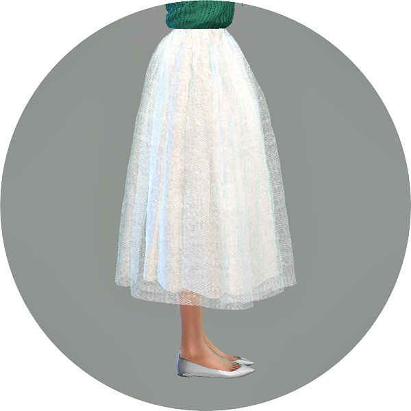 Voluminous long flare skirt at Marigold • Sims 4 Updates