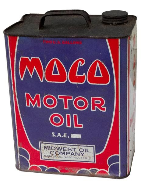 Vintage Moco Motor Oil Midwest Oil Company Can This