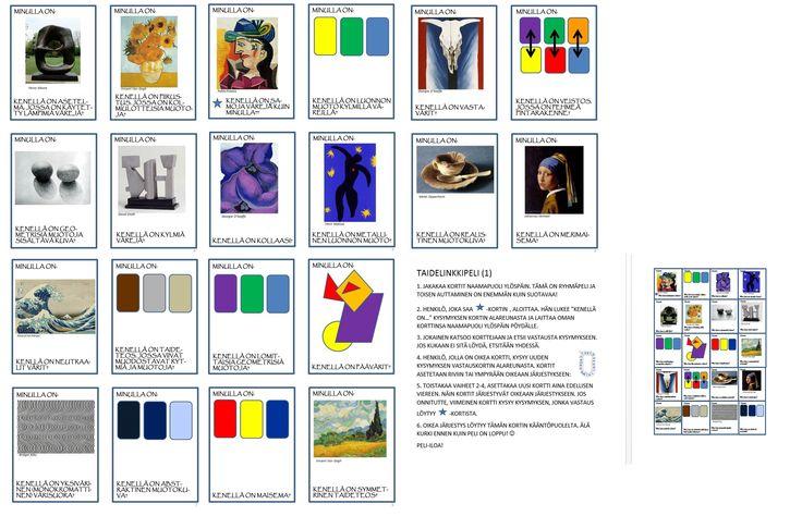 Art Links 1 -taidelinkkipeli, taiteen elementit ja periaatteet (suomennettu Susan Martinin alkuperäispelistä http://scrogginsart.weebly.com). (Tämä löytyy pdf-tiedostona, jos joku innostuu, voin laittaa spostiin tulemaan...)