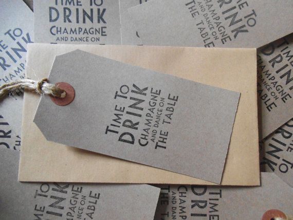 10 vintage deco 'time to drink champagne and door szeilerdesigns, £2.49