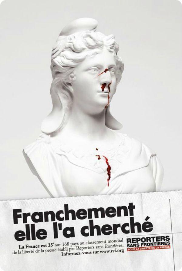 Top 24 des meilleures affiches chocs de Reporters Sans Frontières