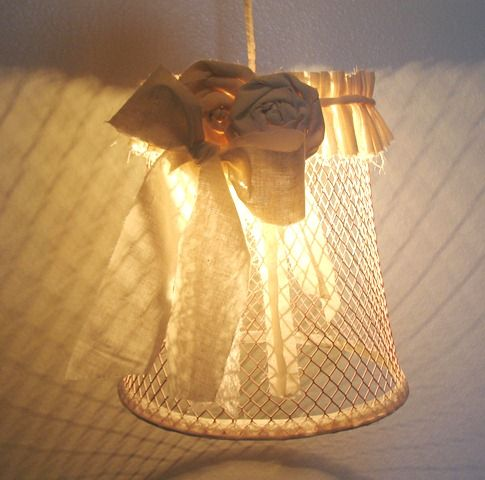 Make a Trash Can Pendant Lamp 12 AUGUST 2011 I've seen a lot of wire basket lighting ideas lately, and I have to say I love the rustic, farmhouse-y look of it. (Not to mention the funky shadows these type of fixtures throw on the walls!) Melody from Crafty Butt came up with a design that has a dollar store twist: a wire [how to ma...
