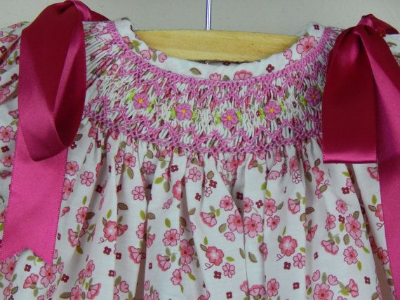 Girl Clothes Baby Dresses Baby Dress Smoked by SUMACLOTHING