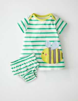 A baby girl dress that is worth the buzz! 40% off for four days £13.20. #Miniboden #Boden