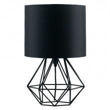 Angus Geometric Black Table Lamp, Black Shade