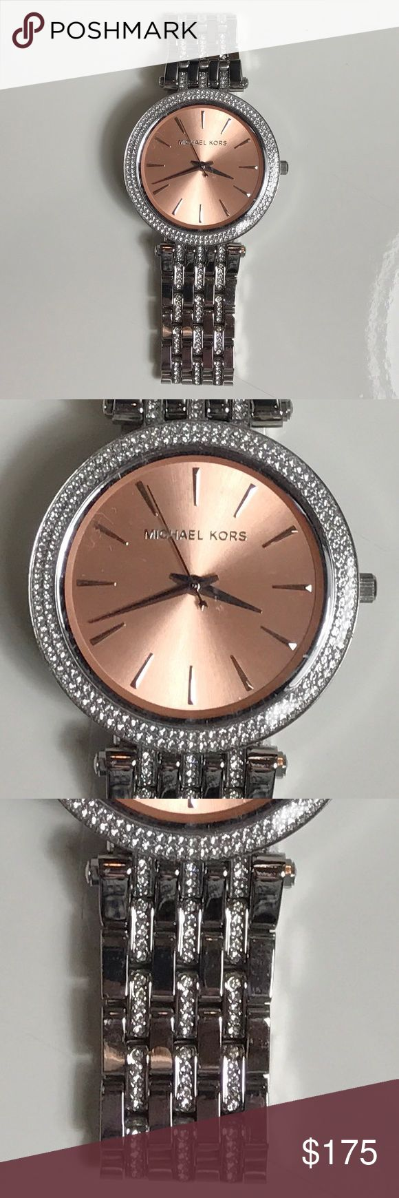 Michael Kors Women's Silver Watch Brand new with original case and card. Chronograph. Rhinestones on bracelet. Michael Kors Accessories Watches