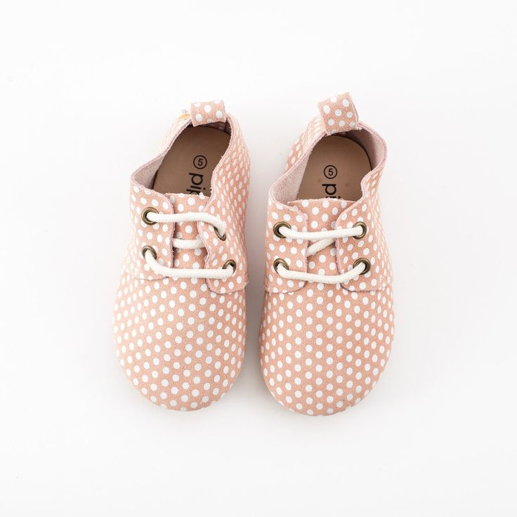 Piper Finn Pink Dots Oxford - Like Audrey Hepburn once said, life is a party so dress like it! All eyes will be on your babe's little feet with these beautiful rosey, pale pink suede oxfords overlaid with our signature polka-dot design.  Easy to put on, easy to take off, and most importantly, designed with careful attention to your baby's feet. Durable yet breathable, these 100% genuine leather oxfords prove you don't have to sacrifice comfort for style.  toddler girl shoes // modern toddler…