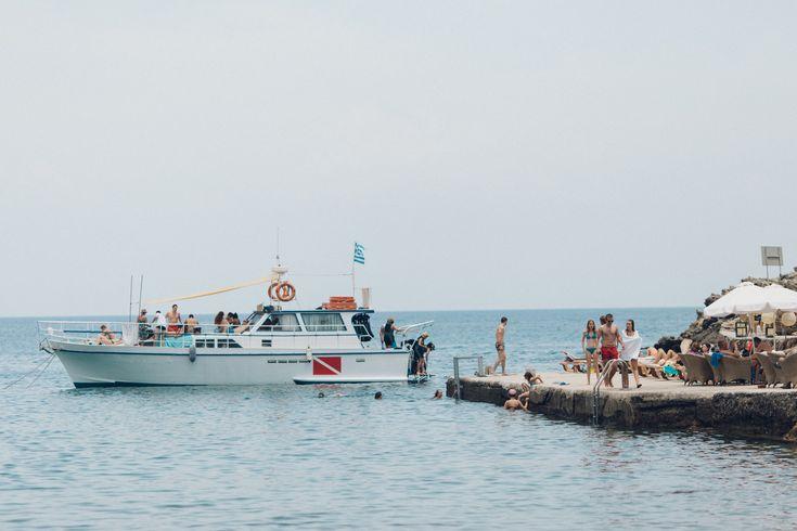 Kallithea Bay in Rhodes, Greece