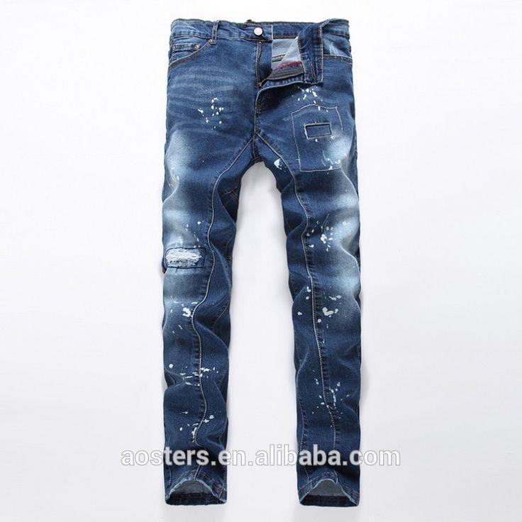 Herren mode custom print regular regular fit straight urban men jeans