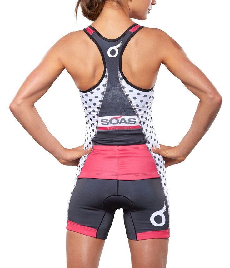 WOW! This has my name on it. Looks like their design is longer for longer torso person like me! YAY!  Polka Dot Tri Shorts: SOAS Racing